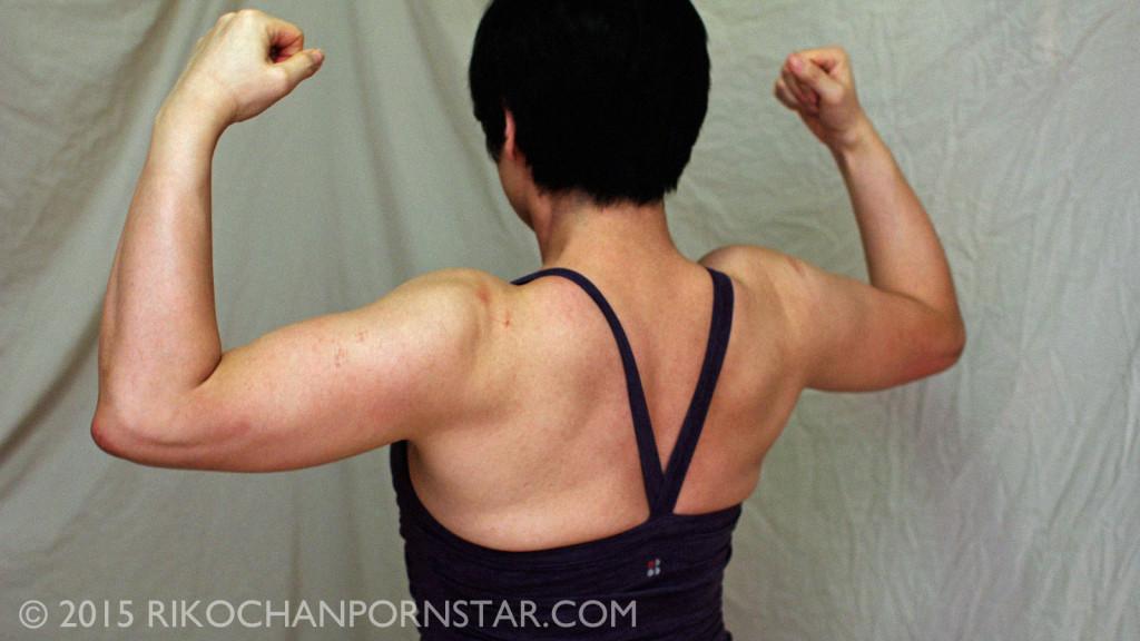Rikochan FBB progress picture: back double bi.